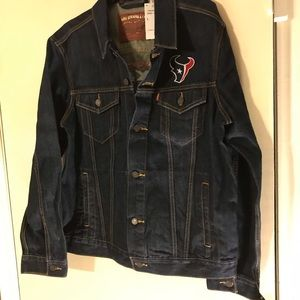 Levis Houston Texans Men's Denim Jacket Size Large